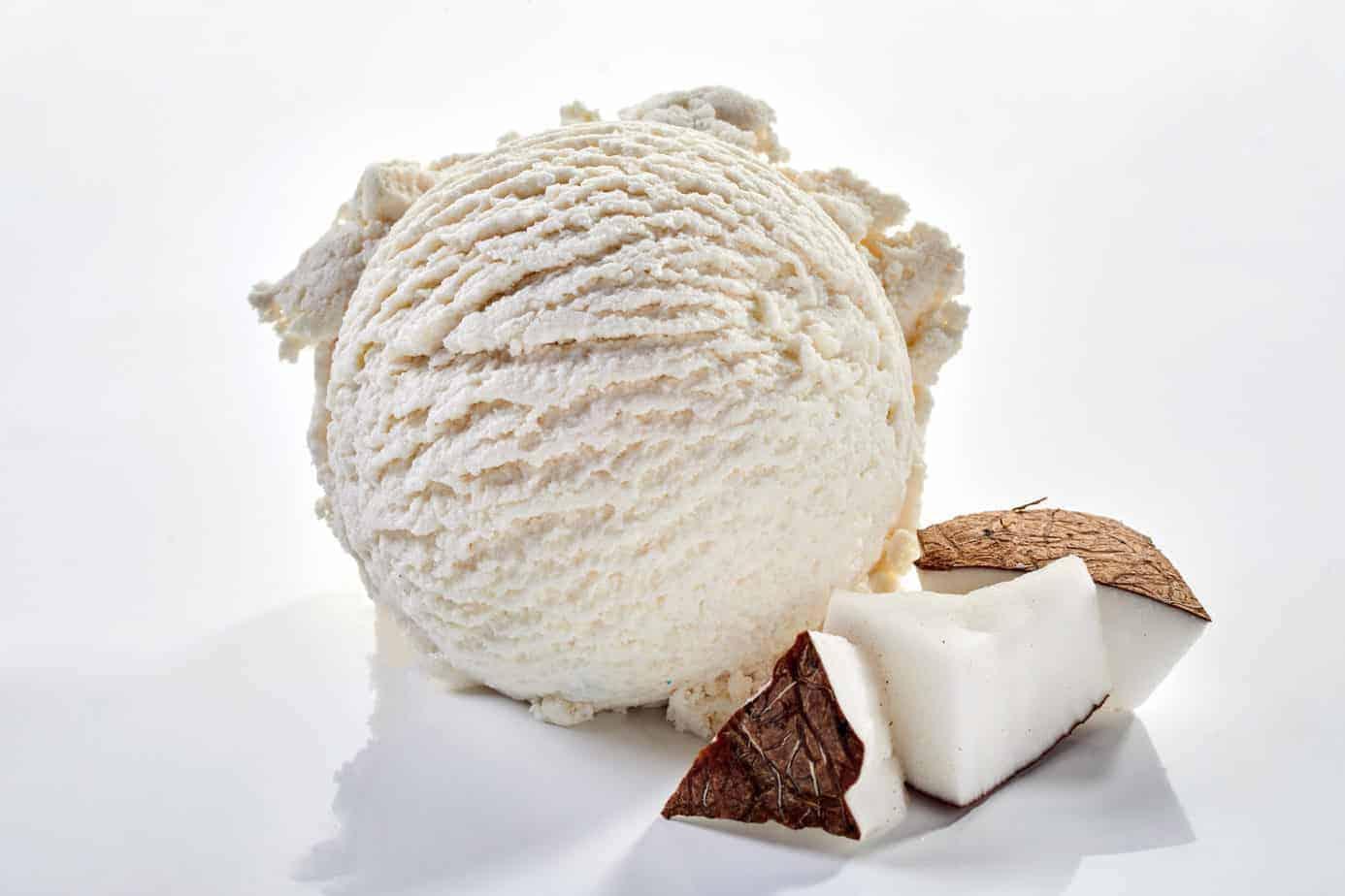 Kokosnuß- Eiscreme