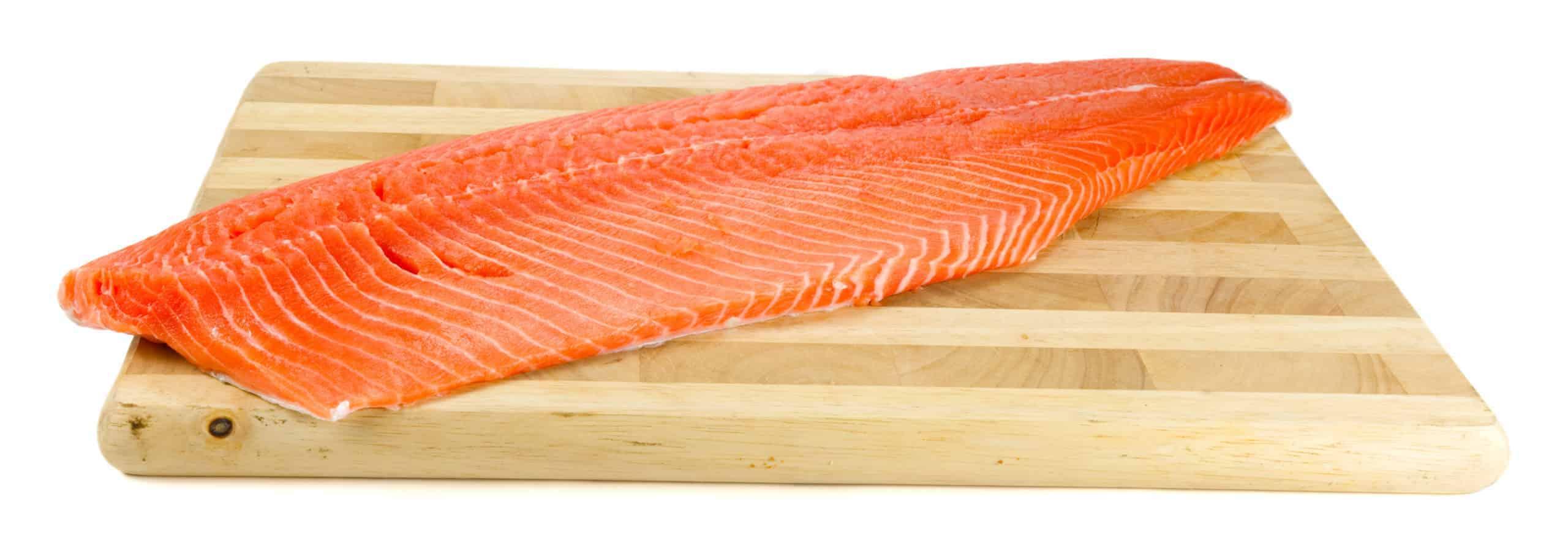 Lachsseiten (Filet) geräuchert