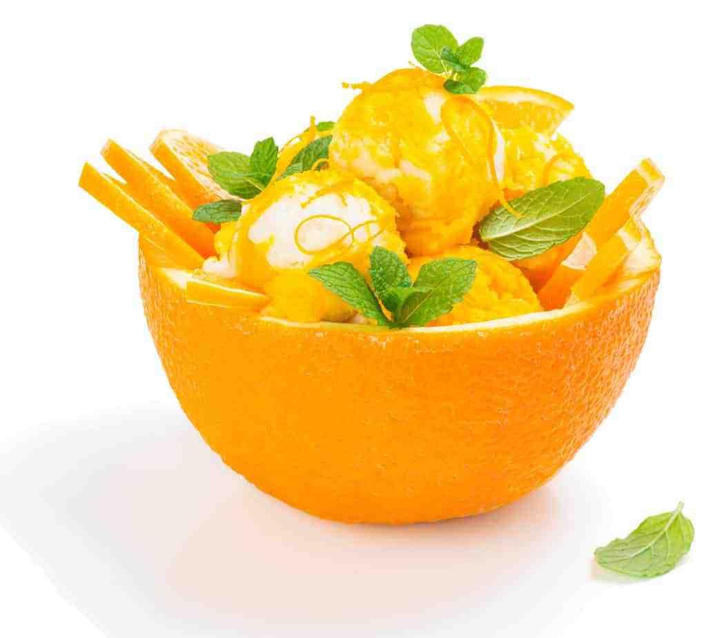 Orangen- Eiscreme