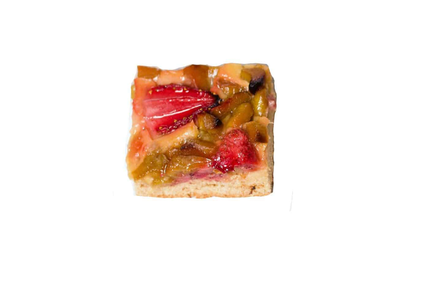 Rhabarber-/Erdbeer Blechkuchen