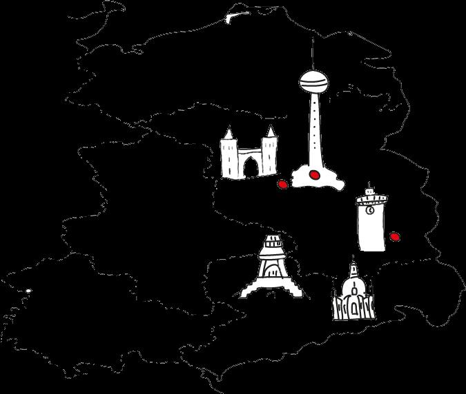 Spiele mit der Karte, um unsere Liefergebiete und Liefertage herauszufinden